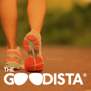Stretching is a fundamental to a fitter you. In picture logo for The GOODista website fitness category.