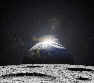Defying Gravity means to fly and also so see the light in dark, grave moments as illustrated by this picture of sunrise over earth from the moon.