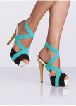 Footwear for a night out in this picture of a pair of perfect OMG sandals