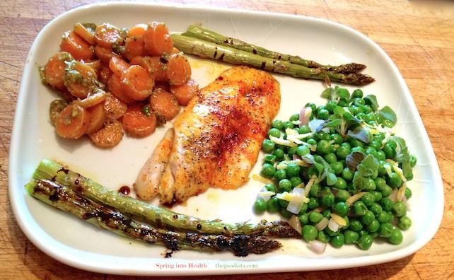 Recipe for Saffron Fish and Spring Vegetables
