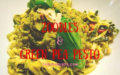Zoodles with Green Pea Pesto Recipe
